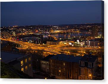 Canvas Print featuring the photograph Ribbons Of Light by Cathy Donohoue