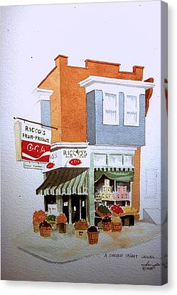 Ricco's Canvas Print by William Renzulli