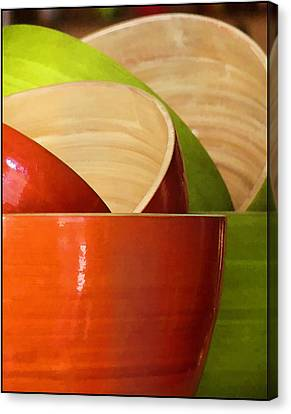 Canvas Print featuring the photograph Rice Bowl Stack by Kim Andelkovic