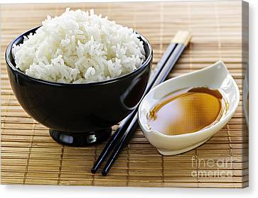 Rice Meal Canvas Print