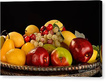 Rich Bowl Of Fruit Canvas Print by Timothy OLeary