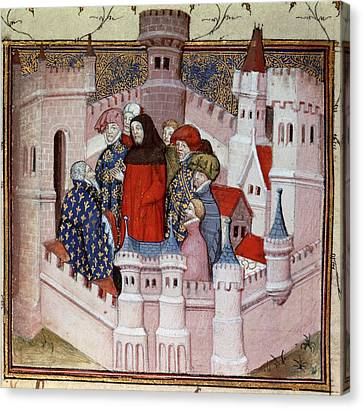Richard II And Northumberland Canvas Print by British Library