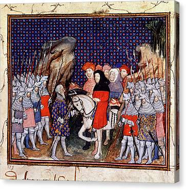 Richard II Meets Northumberland Canvas Print by British Library
