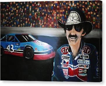Richard Petty And Stp #43 Car Canvas Print by Shannon Gerdauskas