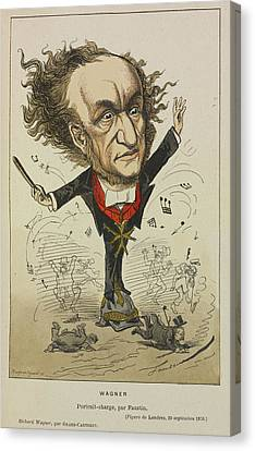 Richard Wagner Canvas Print by British Library