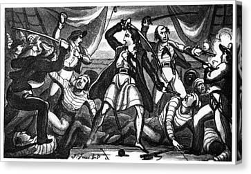 Richard Worley (c1686-1719) Canvas Print by Granger