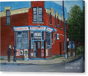 Richardson Depanneur Pointe St. Charles Canvas Print by Reb Frost