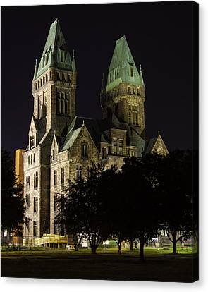 Richardson Olmsted Complex From The Lawn Canvas Print by Don Nieman