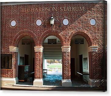Richardson Stadium Main Gate - Davidson College Canvas Print by Paulette B Wright