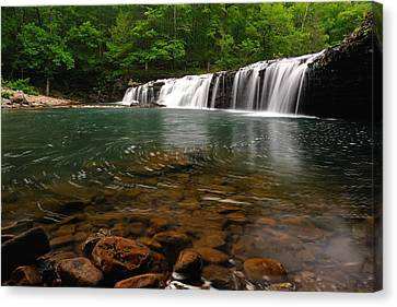 Richland Creek Falls Canvas Print by Kurt Jones