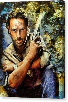 Rick Grimes Canvas Print by Janice MacLellan