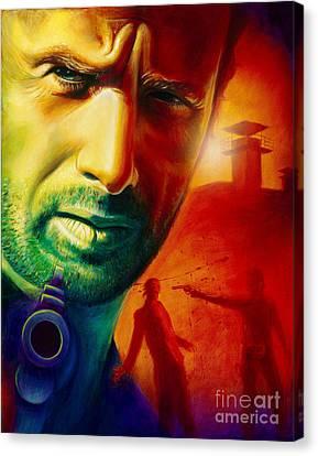 Rick Grimes Canvas Print by Scott Spillman