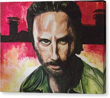 Rick Grimes - The Walking Dead Canvas Print by Scott Dokey