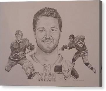 Rick Nash Canvas Print by Chelsea Simunek