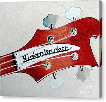 Rickenbacker Canvas Print by Glenda Zuckerman