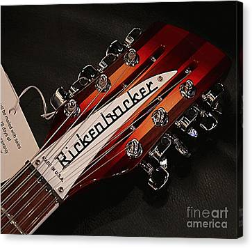 Rickenbacker Canvas Print by Marvin Blaine