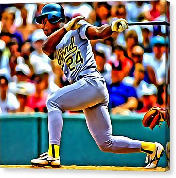 Rickey Henderson Canvas Print by Florian Rodarte