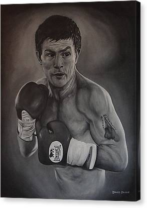 Canvas Print featuring the painting Ricky Hatton by David Dunne