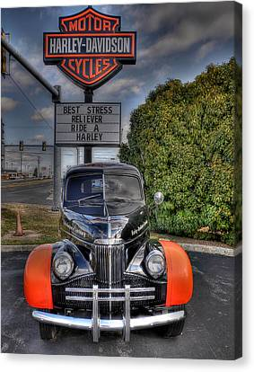 Ride A Harley Canvas Print by Todd Hostetter