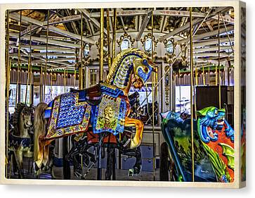 Ride A Painted Pony - Coney Island 2013 - Brooklyn - New York Canvas Print