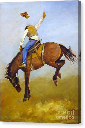 Canvas Print featuring the painting Ride 'em Cowboy by Carol Hart
