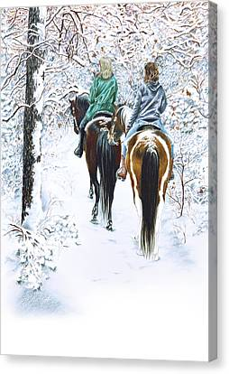 Ride Into Faerieland Canvas Print by Jill Westbrook