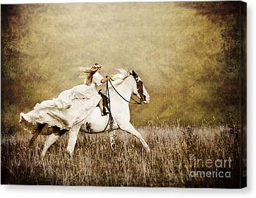 Ride Like The Wind Canvas Print by Cindy Singleton