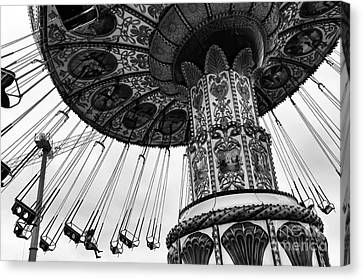 Ride Of Our Youth Mono Canvas Print by John Rizzuto