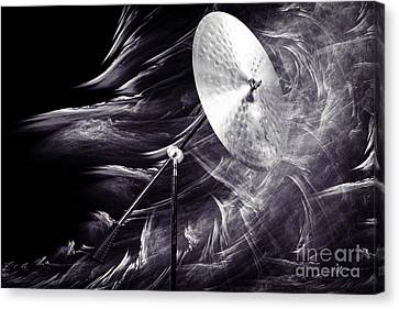Ride Or Suspended Cymbal In Sepia 3241.01 Canvas Print