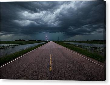 Ride The Lightning Canvas Print by Aaron J Groen