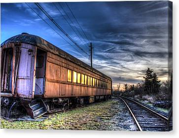 Ride The Rails Canvas Print