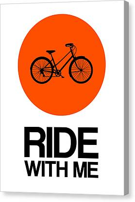 Inspirational Canvas Print - Ride With Me Circle Poster 1 by Naxart Studio