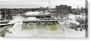 Rideau Falls In Winter Canvas Print