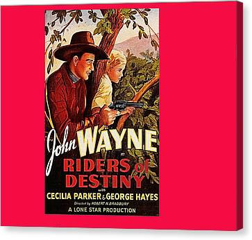 John Keaton Canvas Print - Riders Of Destiny Poster 1933 by David Lee Guss