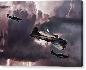 Riders On The Storm Canvas Print by Peter Chilelli