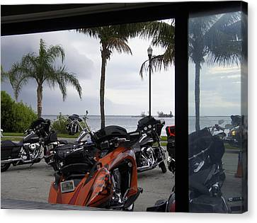 Turbulent Skies Canvas Print - Ridin The Storm Out by Laurie Perry