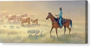 Riding Drag Canvas Print by Paul Krapf