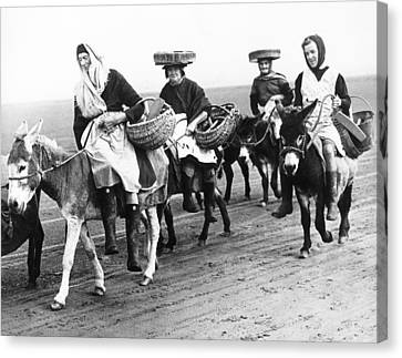 Riding For Cockles In Wales Canvas Print by Underwood Archives