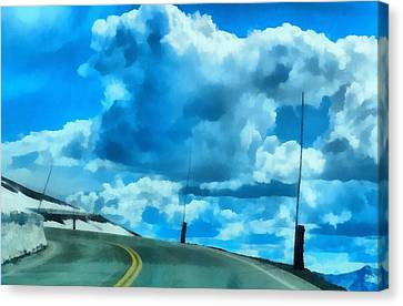 Riding High On Trail Ridge Road Canvas Print by Dan Sproul