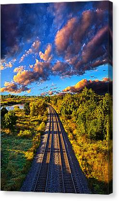 Riding Into Fall Canvas Print by Phil Koch
