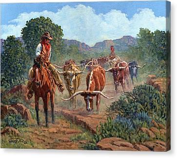 Riding Point Canvas Print by Randy Follis