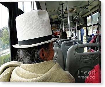 Riding The Bus Canvas Print