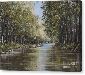 The Canal Canvas Print by Margit Sampogna