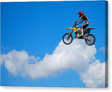 Riding The Clouds Canvas Print
