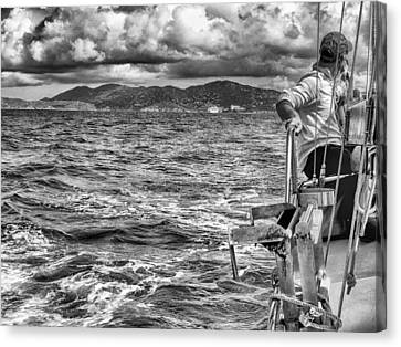 Canvas Print featuring the photograph Riding The Crest Of The Wave by Howard Salmon