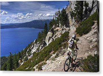 Riding The Flume Trail Canvas Print