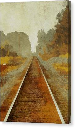 Train Depot Canvas Print - Riding The Rails by Dan Sproul