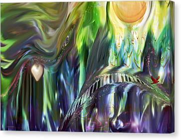 Riding The Wave Canvas Print by Linda Sannuti