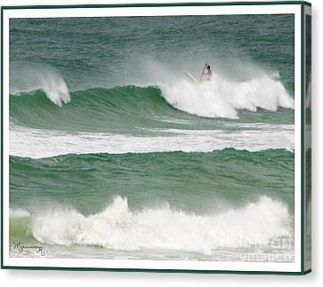 Riding The Waves Canvas Print