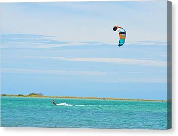 Riding The Wind Canvas Print by Bill Cannon